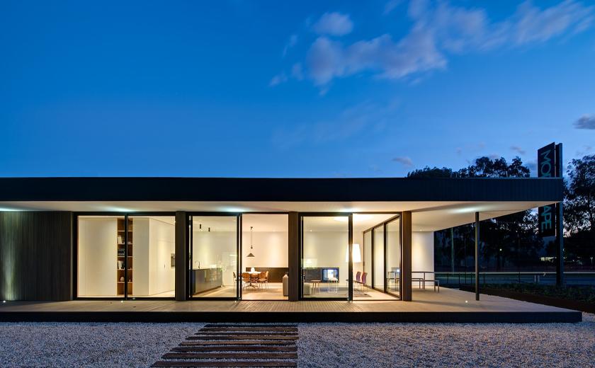 architektur brooklyn fertighaus von modscape knizz mit stil. Black Bedroom Furniture Sets. Home Design Ideas