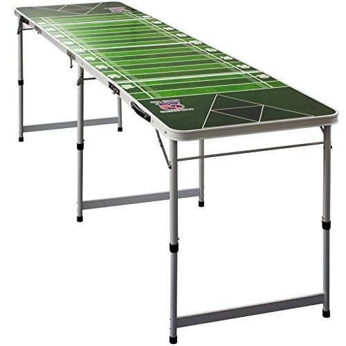 Evil Jared's *PREMIUM* Beer Pong Table + 6 Beer Pong Bälle mit Schaumhalter | College Qualität mit offiziellen Maßen - College Beer Pong Tisch | American Football Field