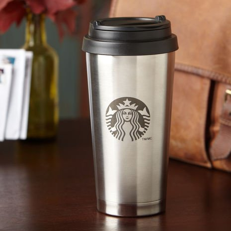 Starbucks Thermobecher (Edelstahl) - Becher to go / Reisebecher / Coffee to go - 473 ml / 16 fl oz