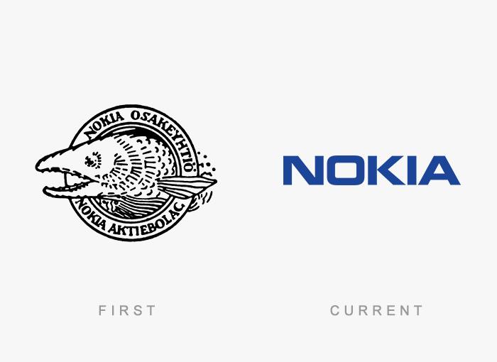 Logo von Nokia - Damals und heute