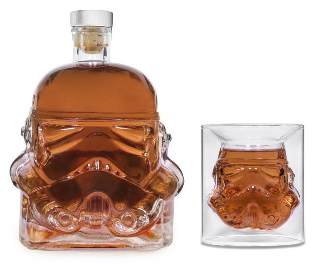 Star Wars Sturmtruppler Helm Karaffe Schnapsglas