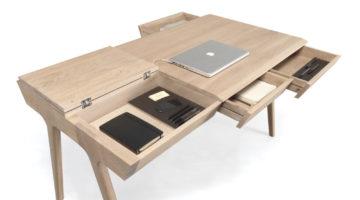 Metis von Gonçalo Campos für Wewood - Schreibtisch mit viel Stauraum