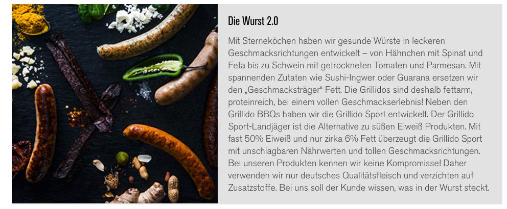 Grillido - Wurst-Revolution - Bratwurst & Sportwurst