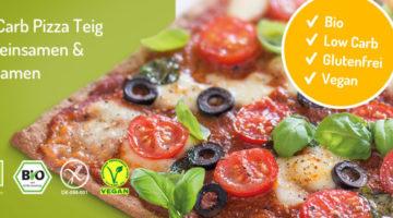 Lizza Low Carb Pizzateig aus Leinsamen und Chiasamen