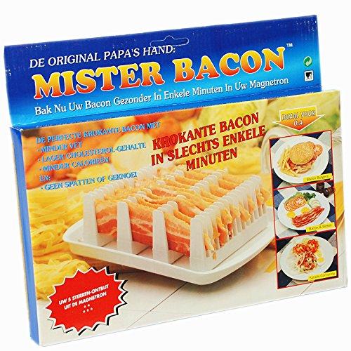 CrazyGadget reg; Mister Bacon Mikrowellen-Ständer zur Zubereitung von Frühstücksspeck