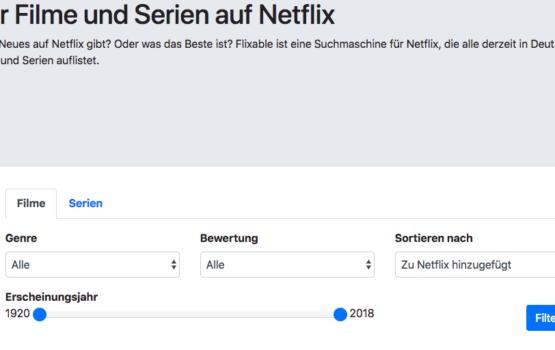 Flixable zeigt Filme und Serien von Netflix