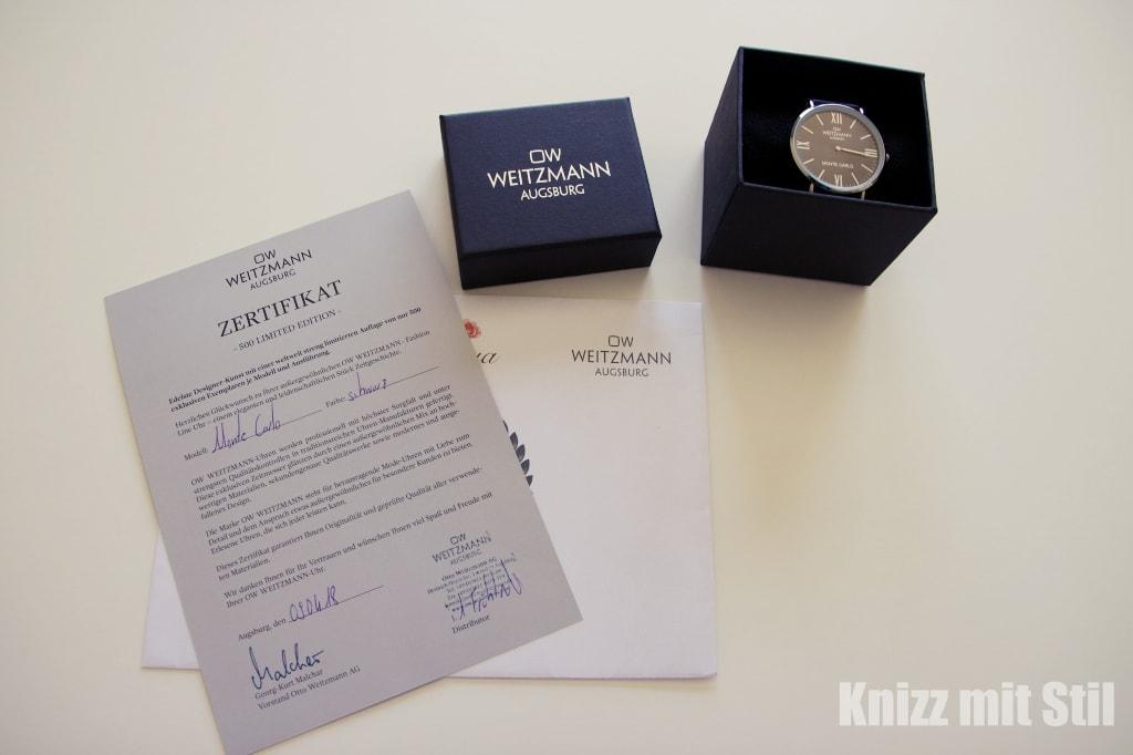Monte Carlo Otto Weitzmann - Zertifikat