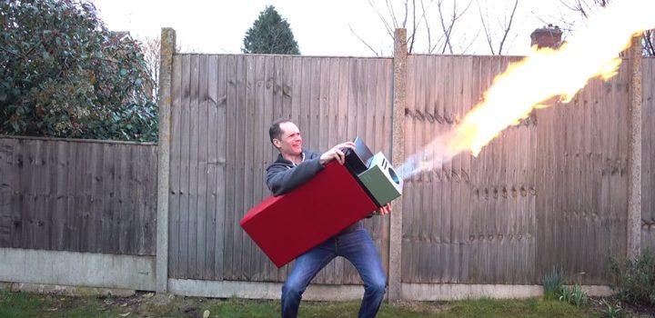 Gigantisches Feuerzeug Marke Eigenbau