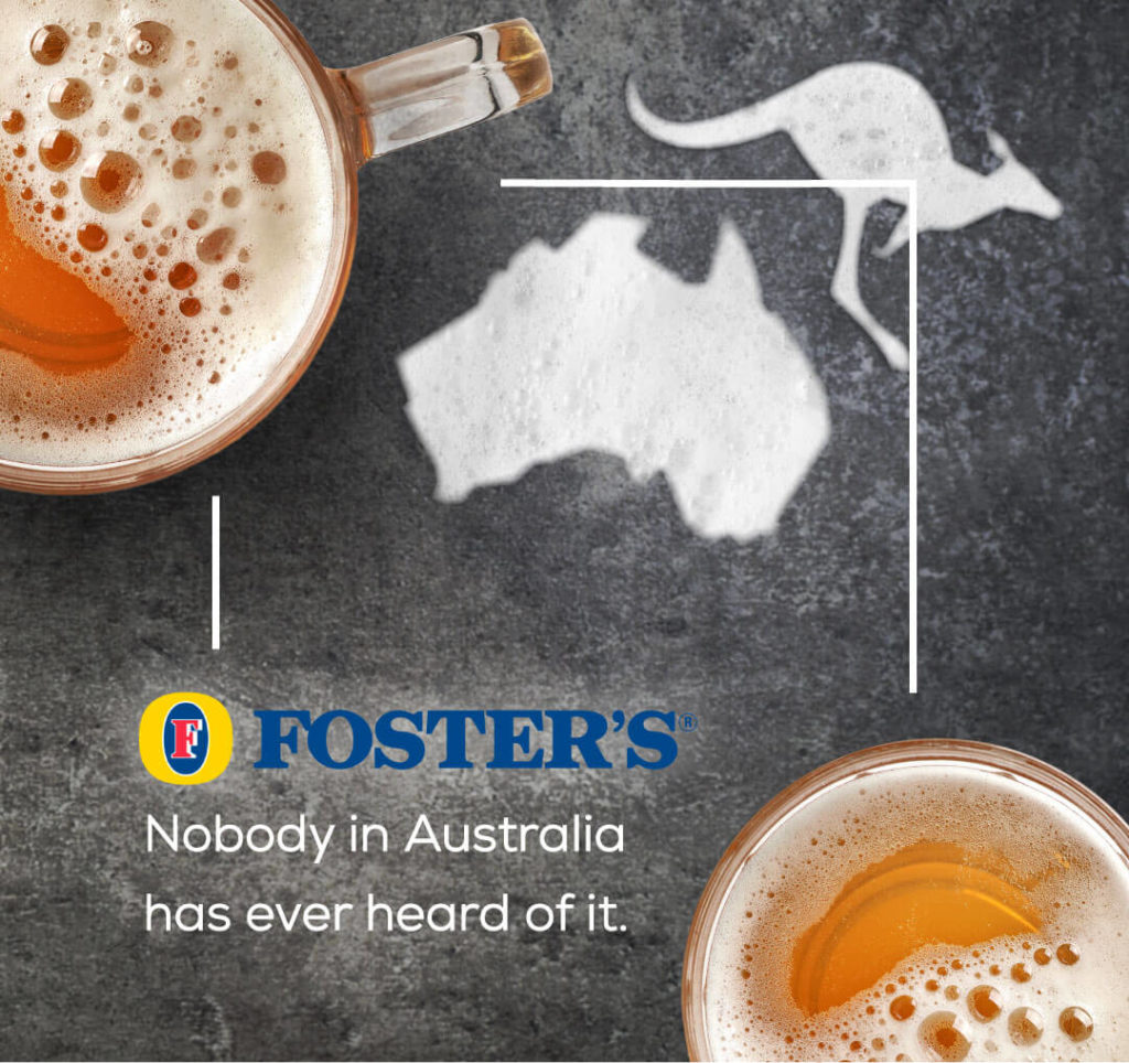 Marken und ihre ehrlichen Slogans - Foster's